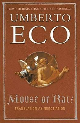 Mouse or Rat? by Umberto Eco New Paperback / softback Book