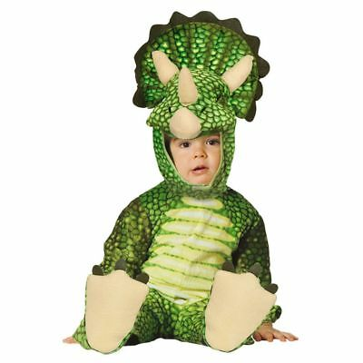 Baby Triceratops Dinosaur Green Fancy Dress Costume 12-24 months