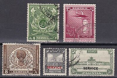 Pakistan 1948 part set of 5 officials S.G. O 30-34  used
