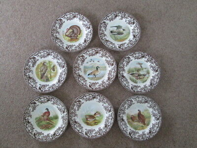 Spode Woodland Dinner Plates Birds Large Selection Falcon Hawk Grouse Goose Duck