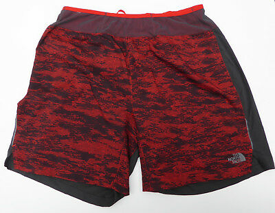"The North Face Men's BETTER THAN NAKED LONG HAUL 7"" SHORTS Fiery Red DigiCamo M"