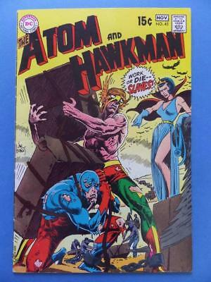 The Atom And Hawkman 45 1969 Kubert Cover! Last Issue! Cents!