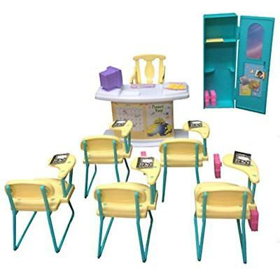 Furniture Barbie Size Dollhouse - Classroom Play Set
