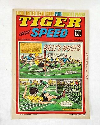8th November 1980 Tiger and Speed Comic - Billy's Boots