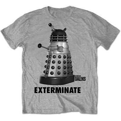 Doctor Who Exterminate Dalek Grey Men's T-Shirt Christmas Gift Top