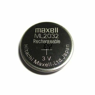 Pile bouton ML2032 lithium manganèse rechargeable Maxell 3V battery Accus 65mAh