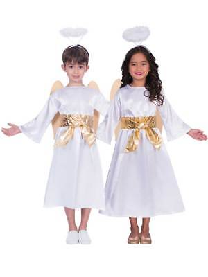 Boys Girls Kids Angel Gabriel Fancy Dress Costume Nativity Play Christmas Xmas