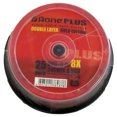 Aone 8x DVD+R Dl Double Couche 8,5 Go - 25 Disques