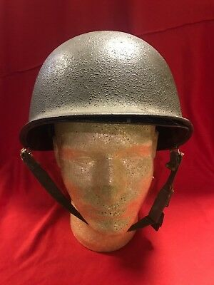 ~Wwii Us Army M1 Steel Pot Helmet With Liner