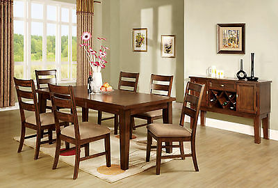 Antique Oak Finish 7p Dining Set Kitchen Dining Room Table & Cushion Seat Chairs