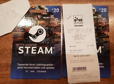 Steam Karte Code.2 X 20 Euro Steam Guthaben Steam Gamecard Digital Code Per Mail