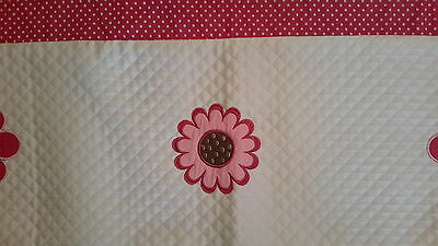 2 KIDS LINE WINDOW VALANCES PINK AND WHITE little girl baby nursery floral dots