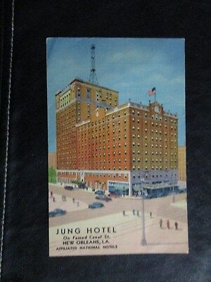 Curt Teich 1938 - Jung Hotel - New Orleans LA - Where All The Psychiatrists Stay