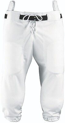 New Martin Slotted (for Pads) Youth Football Game Practice Pants Polyester White