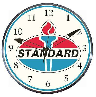 "Standard Gas Oil 15"" Retro Style Pam Advertising Clock LED Backlighted"
