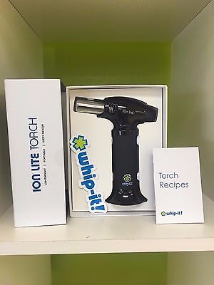 Whip it Ion Lite Butane torch New Lifetime warranty BLACK Refill Lighter SPECIAL
