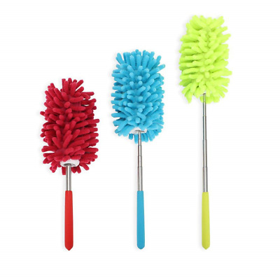 PrettyDate Microfiber Extendable Hand Dusters Washable Dusting Brush with...