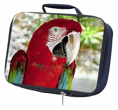 In-Flight Flying Parrot Navy Insulated School Lunch Box Bag AB-PA9LBN