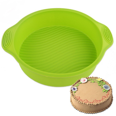 Round Shape Cake Bread Pastry Silicone Mold Pan Bakeware DIY Mould