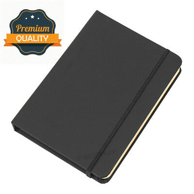 Black A6 Blank Plain Sketching Art Journal Ivory Colour 192 Page Paper Note Book