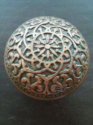Russell Erwin Beautiful Antique Bronze Door Knob - Victorian Eastlake Solid Rare