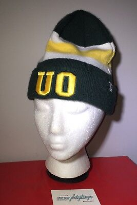 2b376d1168e Oregon Ducks UO Green Yellow NCAA 47 Brand Cuff Knit Beanie Hat One Size  College