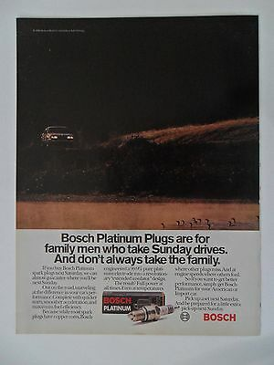 1986 Print Ad Bosch Platinum Spark Plugs ~ For the Family Man Sunday Drives