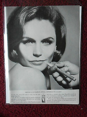 1964 Print Ad Tiparillo Cigar ~ Should A Gentleman Offer Lady LEE REMICK a Smoke