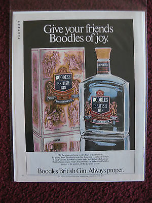 1982 Print Ad Boodles British Gin ~ Give Your Friends Boodles Of Joy