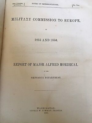 Medical Book- Military Commission To Europe.  1861.   Ordnance Department USA.