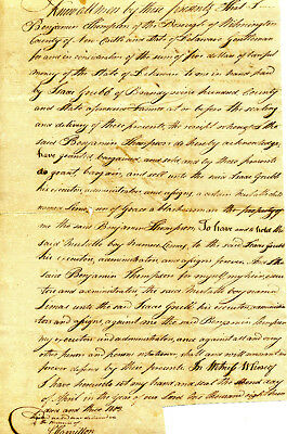1803 Delaware Bill Of Sale For Mulatto Boy Linus To Be Later Granted His Freedom
