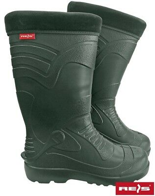 Mens Unisex Winter  Wellingtons  Rain Snow Boots Wellies Thermal