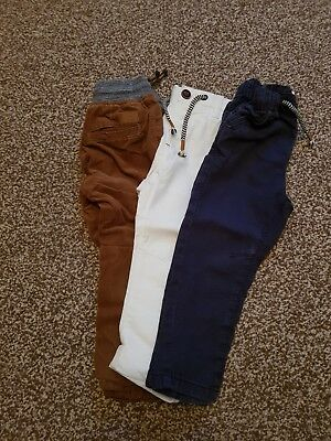 Boys Next Trousers 3 Pairs Size 18-24 Months