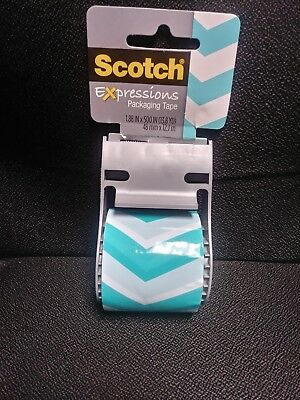 Brand New Scotch Tape Expressions Printed Shipping/packaging Tape 7.88Inx13.8Yd