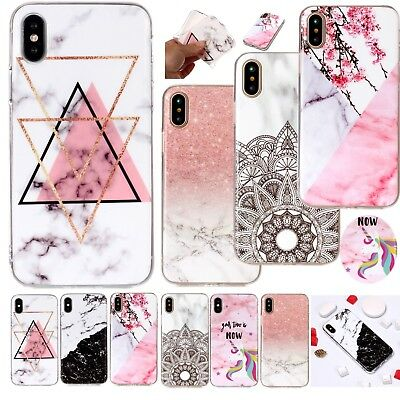 Marble Shockproof Silicone Case Phone Back Cover For iPhone XS 5 6 7 8 + XR iPod