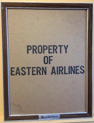 1960s VINTAGE EASTERN AIRLINES ADVERTISING SIGN FRAME FOR AIRPORT TRAVEL POSTERS