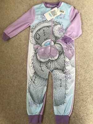 Girls Tatty Teddy Pyjamas  Me To You 1onesie All In One Winter Pjs 2-8 yrs NEW