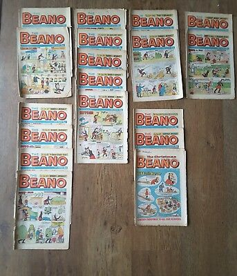 BEANO comics job lot vintage 1971 x 18 + 1972 x 24