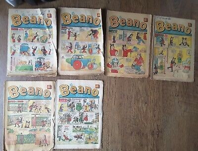 BEANO comics job lot vintage 1969 x 6