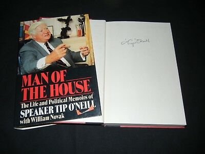 """TIP O'NEILL Signed Autograph """"MAN OF THE HOUSE"""" Book US Speaker of the House 1st"""