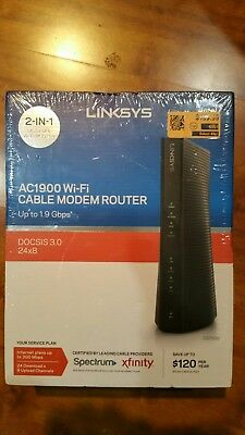 linksys ac1900 wifi cable modem router