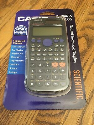 Casio fx-300ES PLUS Scientific Calculator Black W/ Natural Textbook Display New