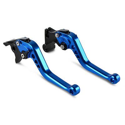 Blue CNC Short Brake Clutch Levers for Yamaha TMAX XP500 08-11 TMAX XP530 12-14