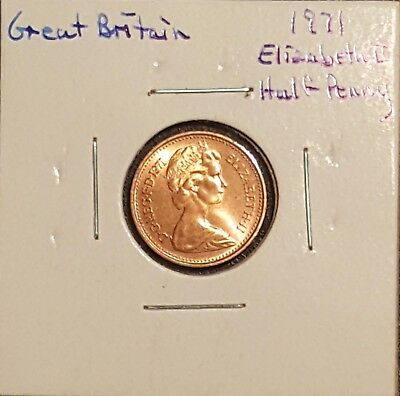 1971 Great Britain Half Penny - Queen Elizabeth II
