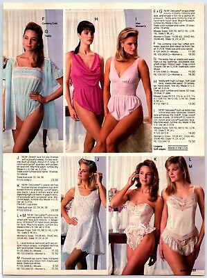 1988 Lingerie Underwear Bras Vintage Catalog Ad Paper Print Ad Clippings  P1