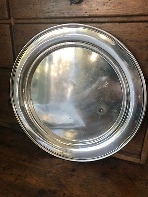 "RARE Sterling Silver Sandwich Plate 10"" by Manchester Silver Co 1052  - American"