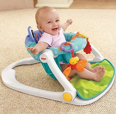 Fisher-Price Sit-Me-Up Infant Floor Seat, Upright Baby Supportive Play Chair