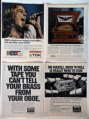 Lot #6 of 20 Different Cassette Recording Tape Magazine Print Ads ~ RCA Victor +