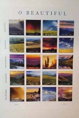 O Beautiful Forever Stamps - Sheet US Stamps (20 stamps)