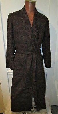 Vintage Mid Century E & W Lounge Wear Robe, Paisley, Great Colors, Outstanding!